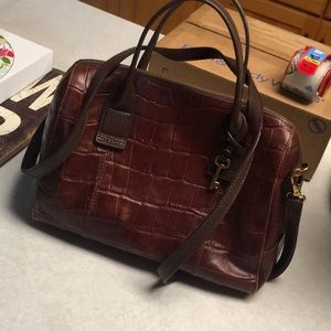 Fossil Handbag with Marching Wallet